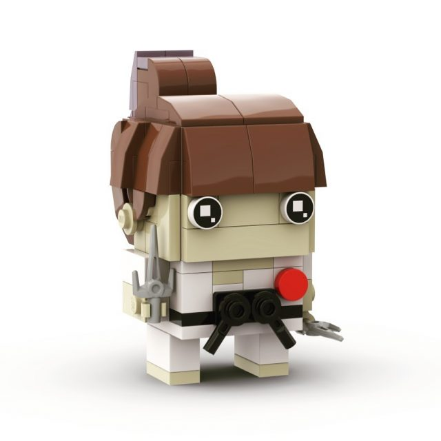Kristarella karate-ka #brickheadz 👍🏻👊🏻🥋 I don't actually have sai, or know how to use them, but I'd like to!