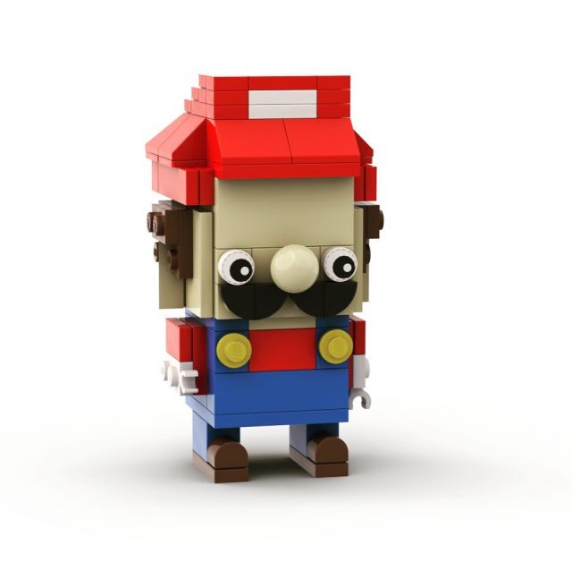 Been playing with @bricklinkstudio and designed a #supermario #brickheadz Will hopefully build this little guy IRL when I get some of the inner pieces. #lego #afol #moc
