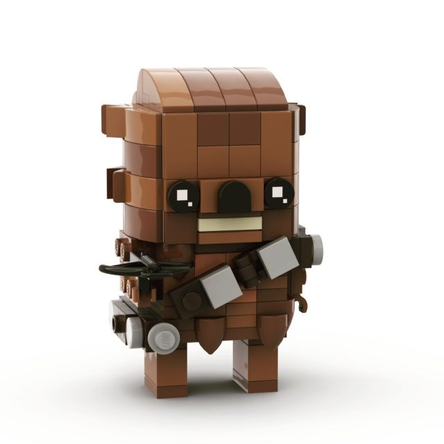 Most of the official Star Wars Brickheadz are cool, but I just don't like the Chewbacca one, so I designed my own. First image is mine, second is the official one. Not sure if mine looks too much like an Ewok though 🤷🏻‍♀️ #lego #brickheadz #afol #starwars #chewbacca #chewy