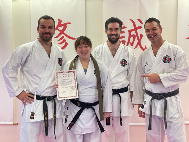Something extraordinary, wonderful, and totally unexpected happened today — I was awarded my black belt (Shodan Ho)!I had accepted that I wouldn't reach this milestone this year because the next official black belt grading will be very close to when bub is due. It was hard to accept at first because I had been so focused on that goal, but I took a step back and thought about the things I love about karate and decided I would focus on those and just do as much as I could, while I can.Gradings are a wonderful test of one's skill and spirit, and a recognition of how far you have come, but they are not themselves the reason for the journey, or the knowledge and growth you gain along the way. I figured I can keep growing my knowledge and skill while I also grow a human. Apparently my dedication to that was such that my Sensei was able to award me that next grade today! I am very humbled and thankful.Thank you all my instructors and training partners! You have contributed to my karate growth and I appreciate you all so much. Especially thanks to Sensei Peter (@rizeupr1) and Sensei James (@jamesxuereb.me) whose instruction, guidance, and example have been beyond my expectations and imagination. Thank you @d.symonds, my training partner, teaching partner, and life partner — it is a joy to share this journey with you. ❤️🥋#gkrkarate