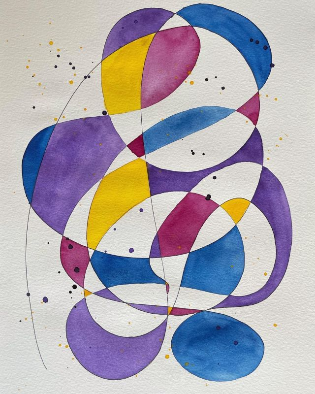 I have found painting these abstracts very soothing. . #watercolour #watercolor #watercolourpainting #abstractart