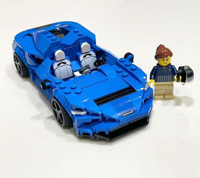 Tonight's fun little build: McLaren Elva. Female driver is appreciated! #lego #legospeedchampions #afol