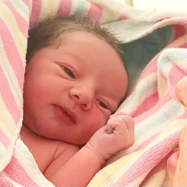 Baby Symonds has arrived! I think he is beautiful. Love his hair!Name: Mark David Geoffrey Symonds Weight: 3.29kg Height/length: 50cm Born: 7:15pm on Tue 27 July