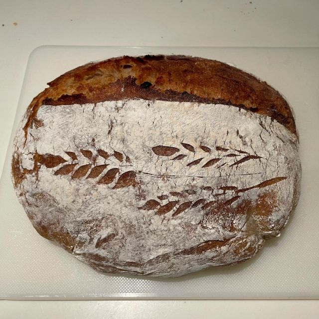Part of a food delivery today from our lovely church family, freshly baked sourdough. It is sooo good 🤤