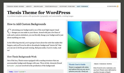 thesis forum wordpress